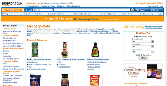 Amazon Grocery Beta