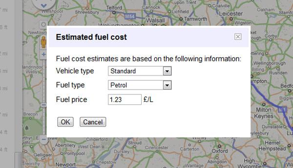 Google Map Fuel Calculator