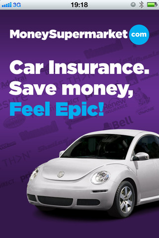 MoneySupermarket.com car insurance iphone app