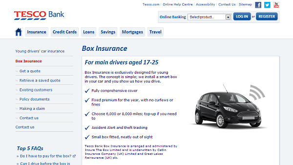 Tesco Car Insurance Young Drivers