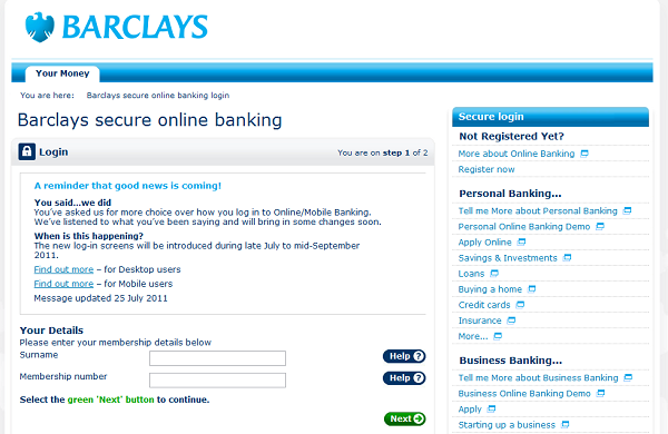 Barclays Changes To Internet Amp Mobile Banking Login